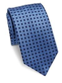 Saks fifth avenue Basketweave Silk Tie in Blue for Men   Lyst