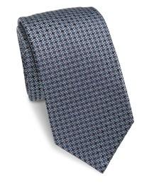 Saks fifth avenue Tetris Silk Tie in Gray for Men   Lyst