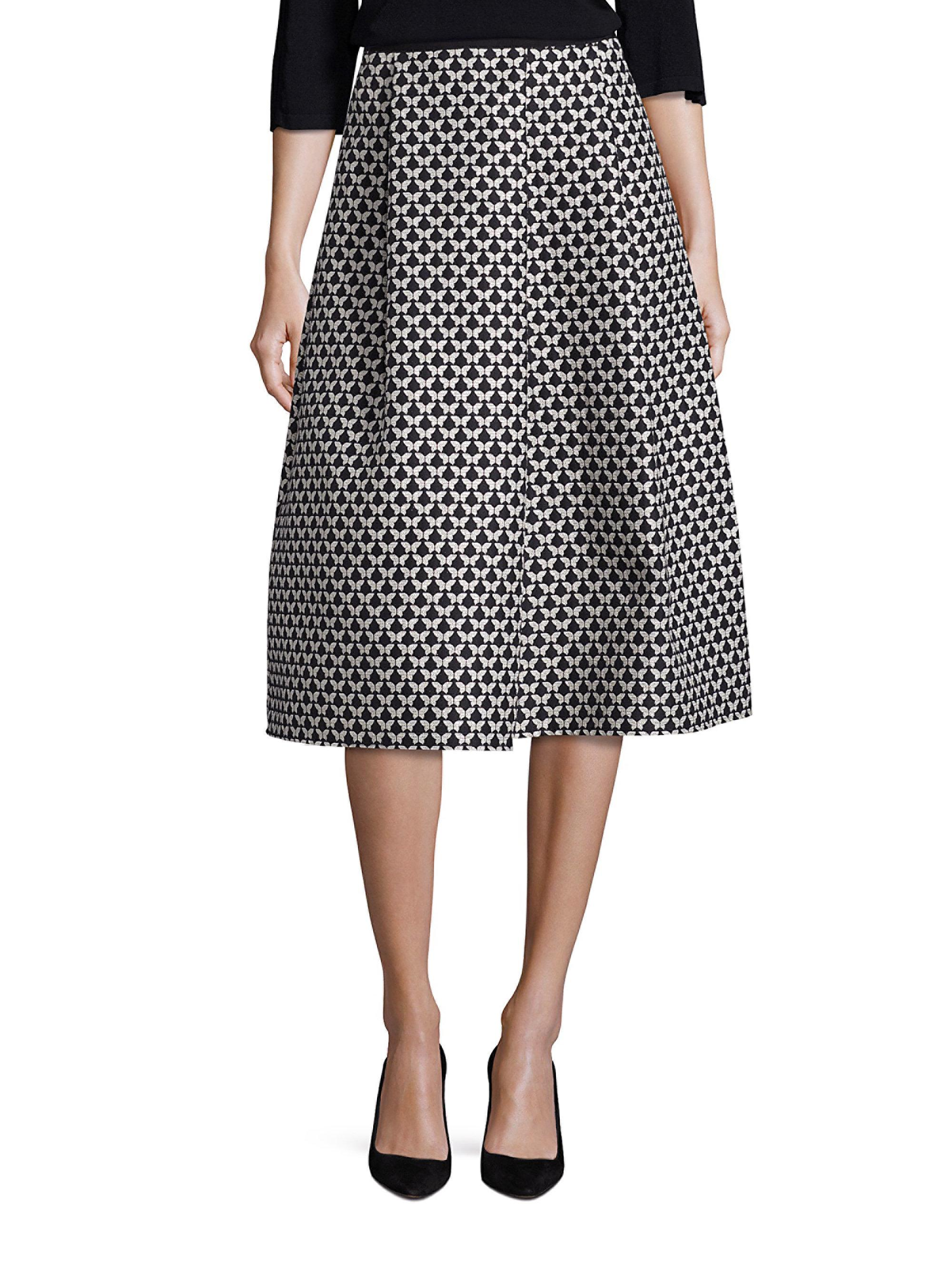Weekend By Maxmara Valance Jacquard Butterfly Skirt