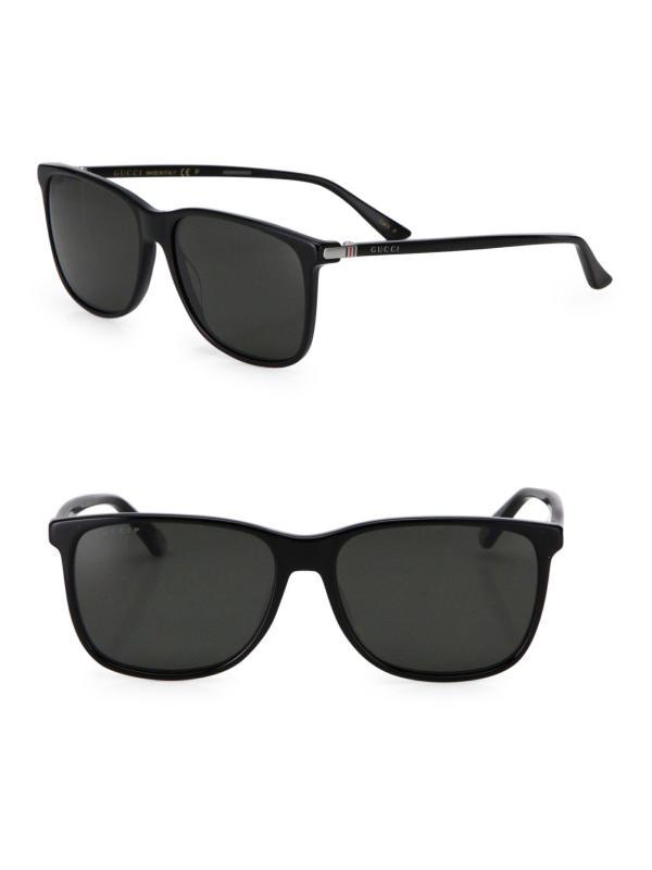 1fe670f699e2 ... Gucci 57mm Square Sunglasses In Black Men Lyst ...