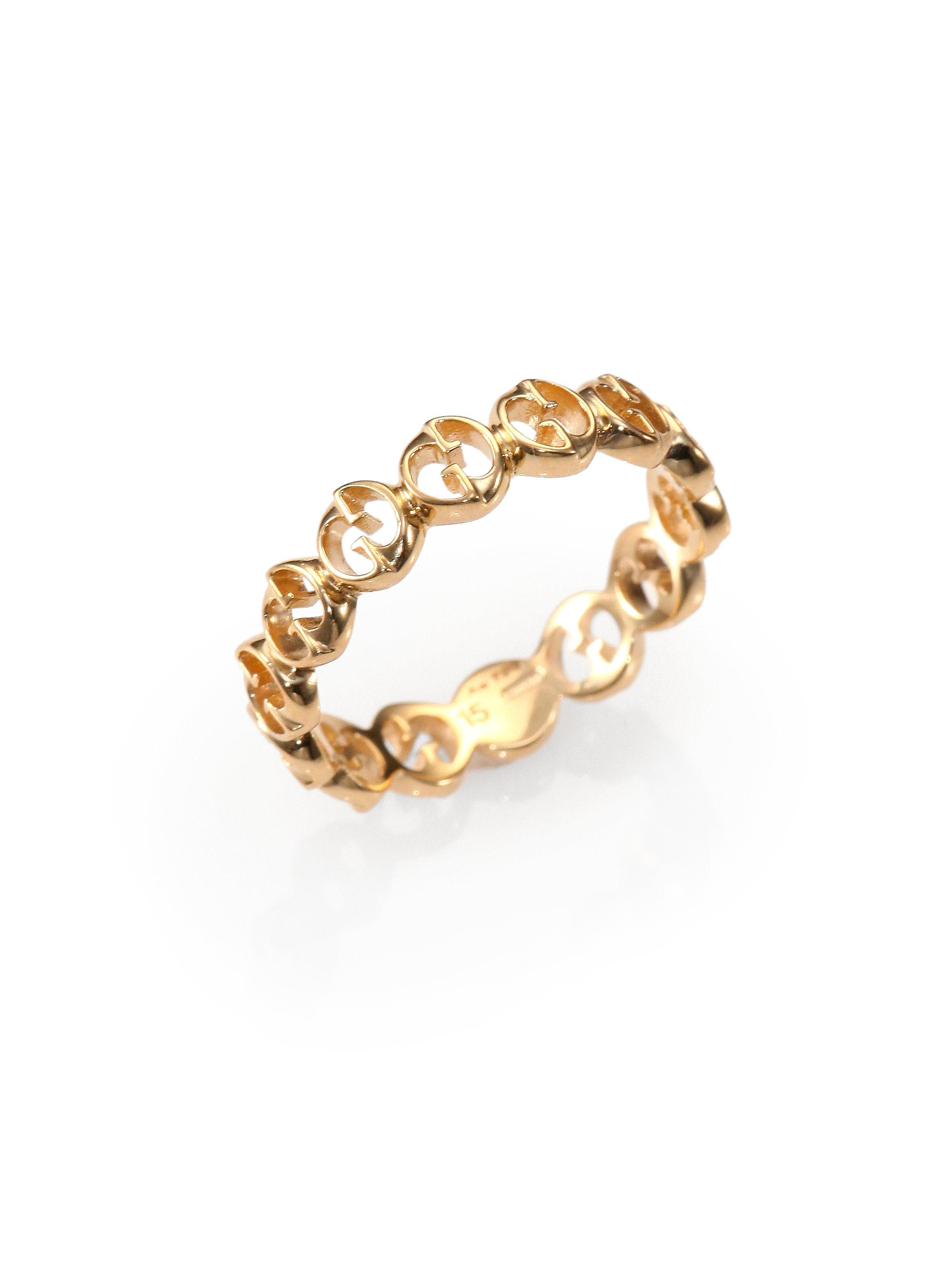 Lyst  Gucci 1973 18k Rose Gold Band Ring in Metallic