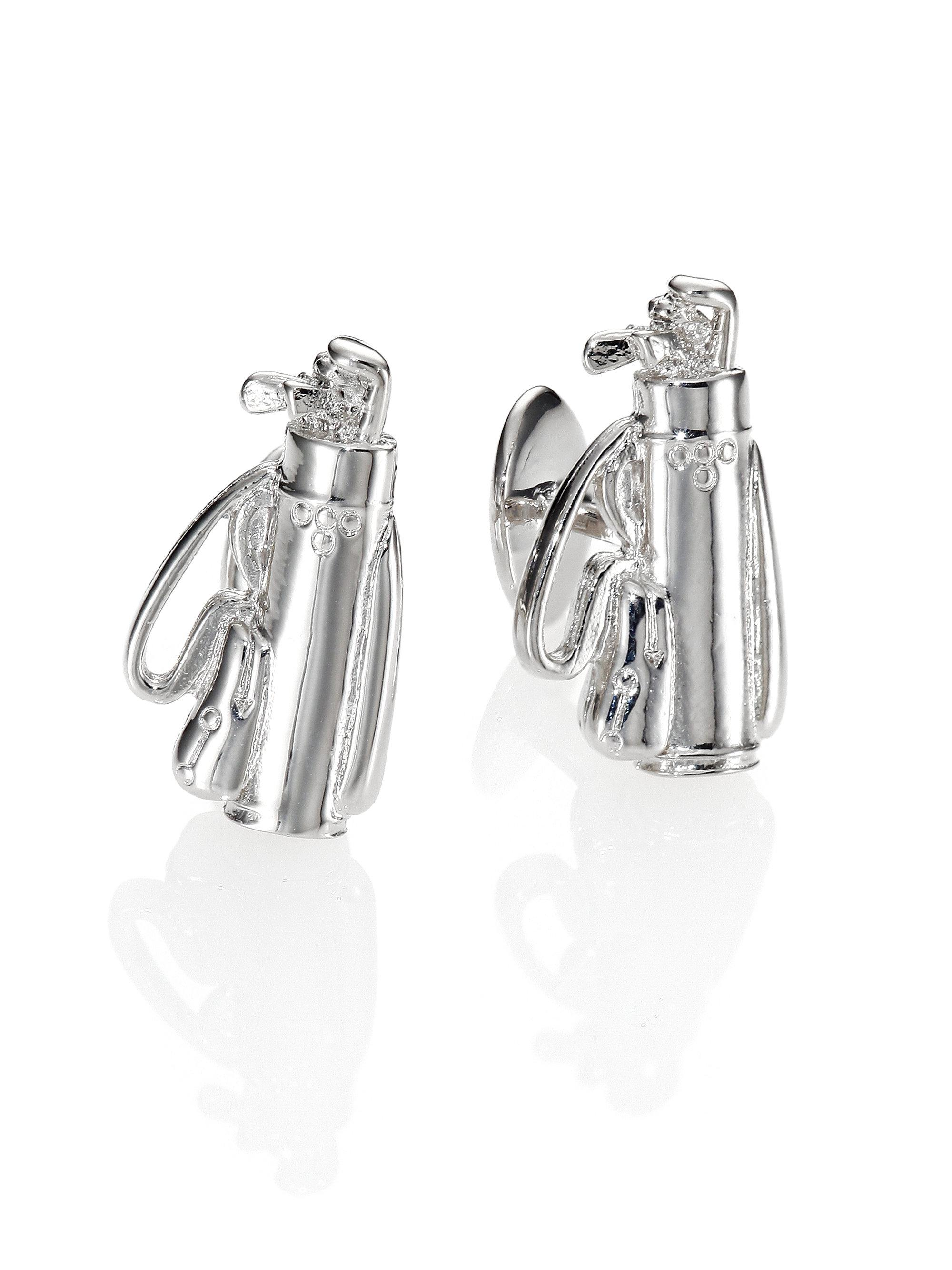 David Donahue Sterling Silver Golf Bag Cuff Links in