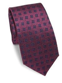 Lyst - Saks Fifth Avenue Geometric Silk Tie in Purple for Men