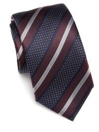 Lyst - Saks Fifth Avenue Striped Silk Tie in Blue for Men