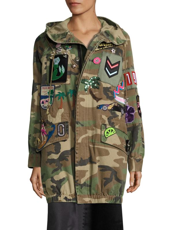 Lyst - Marc Jacobs Hooded Camouflage Anorak Jacket In Green