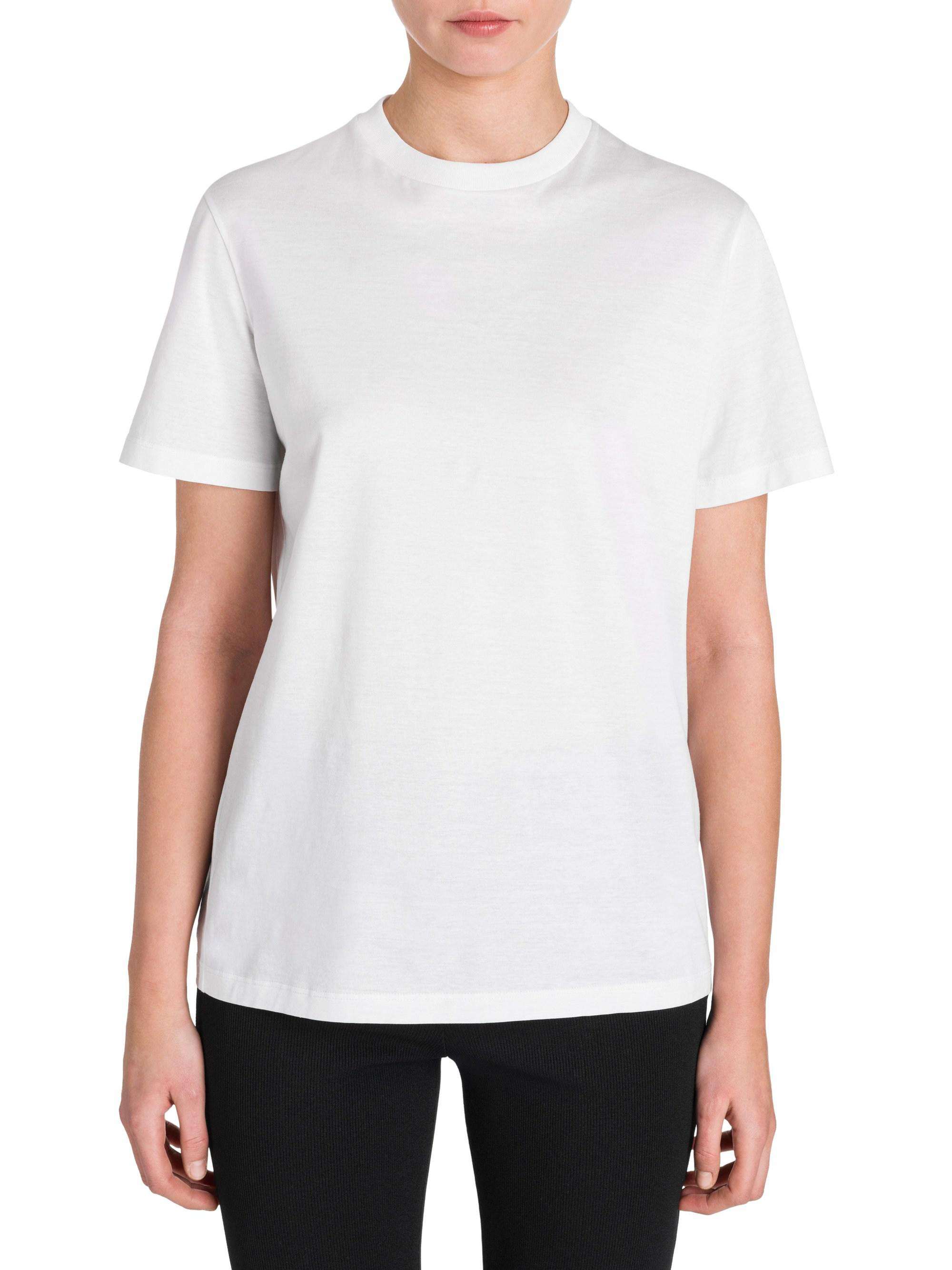 Prada Cotton Logo Back Tee In White
