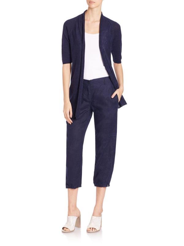 Lyst - Eileen Fisher Linen Cargo Pants In Blue