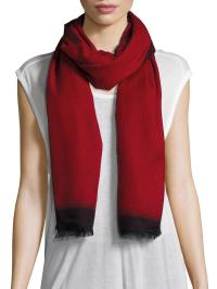 Bajra Cashmere & Silk Scarf in Red | Lyst