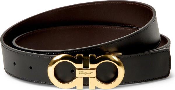 Lyst - Ferragamo Reversible Leather Logo Belt
