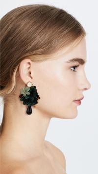 Lyst - Lizzie Fortunato Rosa Earrings in Green