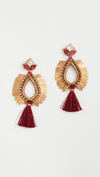 Deepa gurnani Deepa By Lieu Earrings in Red | Lyst