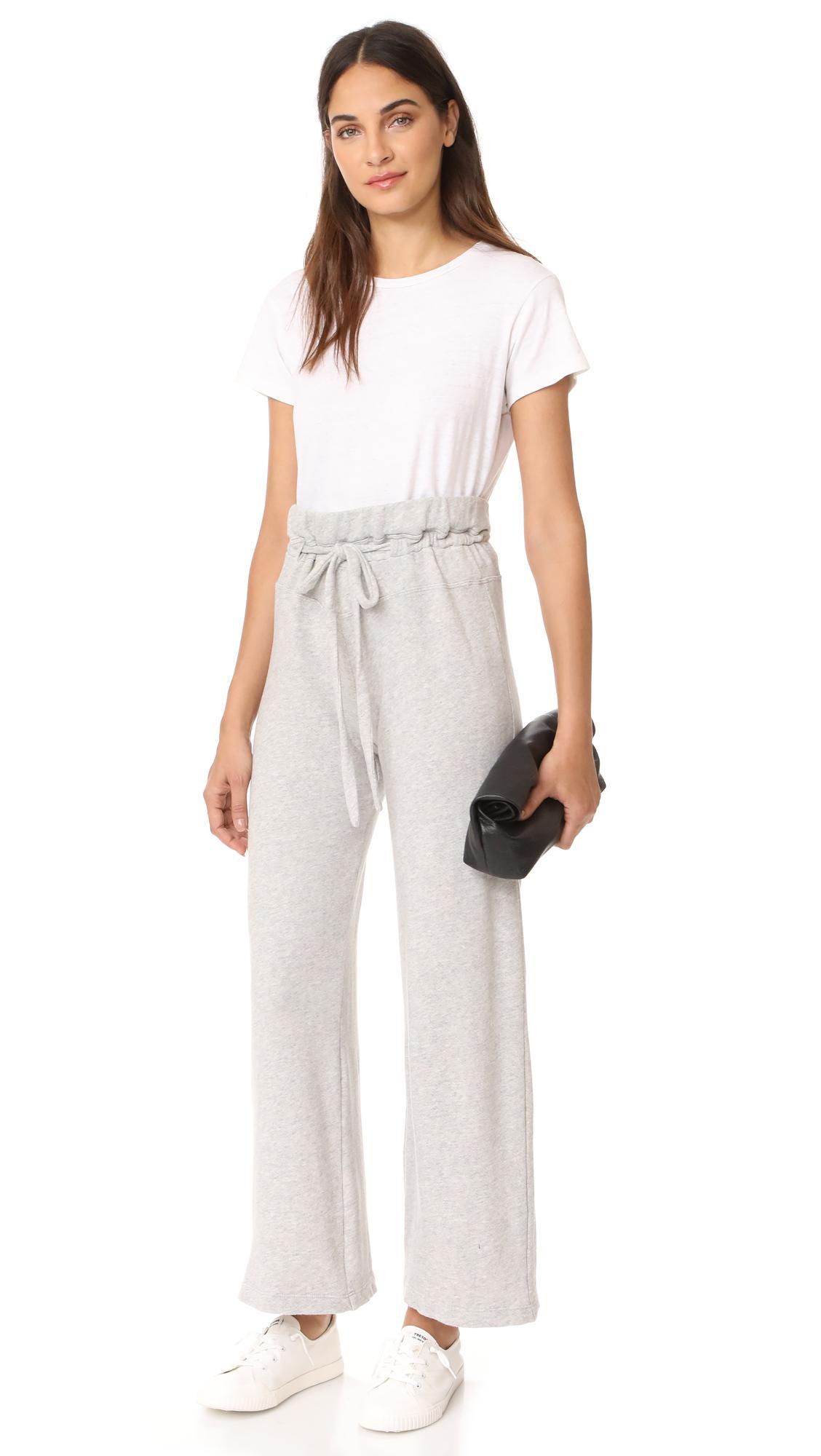 Wilt Cotton Wide Leg Sweatpants in Grey Heather (Gray) - Lyst