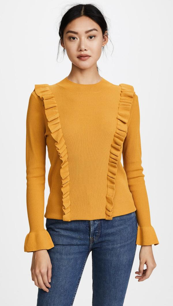 Lyst - Glamorous Ruffle Front Sweater