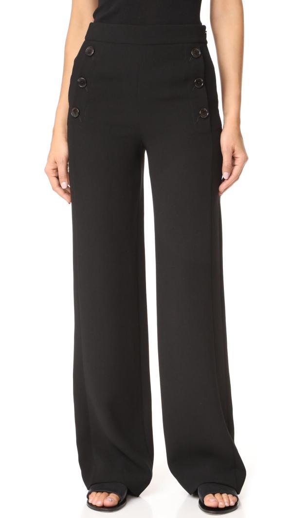 Lyst - Dkny High Waisted Sailor Pants In Black