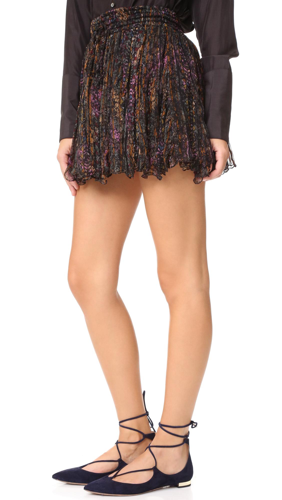 Mes Demoiselles Katia Miniskirt In Black Lyst