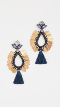 Lyst - Deepa Gurnani Deepa By Lieu Earrings in Blue
