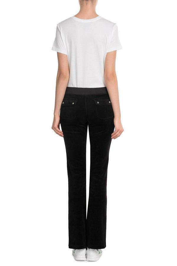 Lyst - Juicy Couture Embellished Velour Track Pants In Black