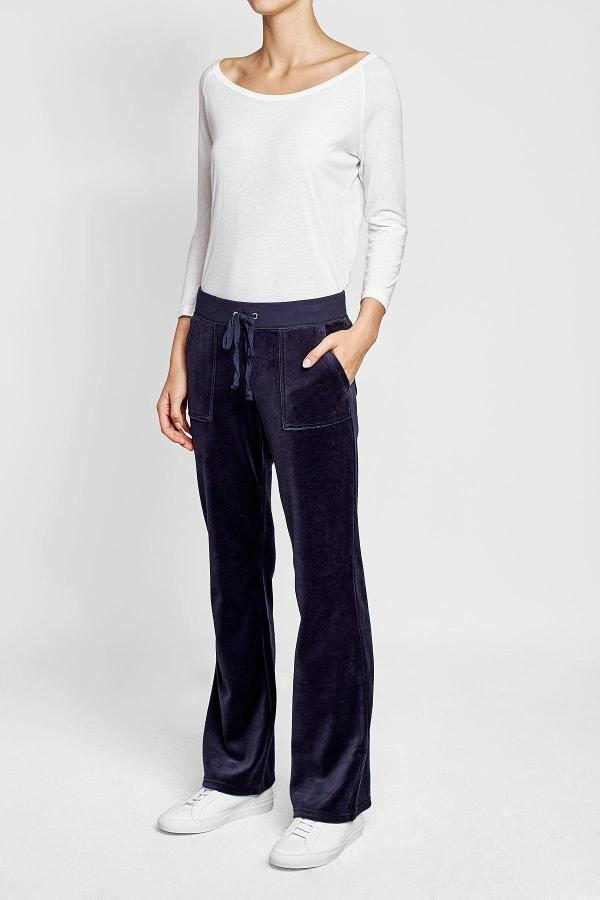 Juicy Couture Velour Track Pants In Blue - Lyst