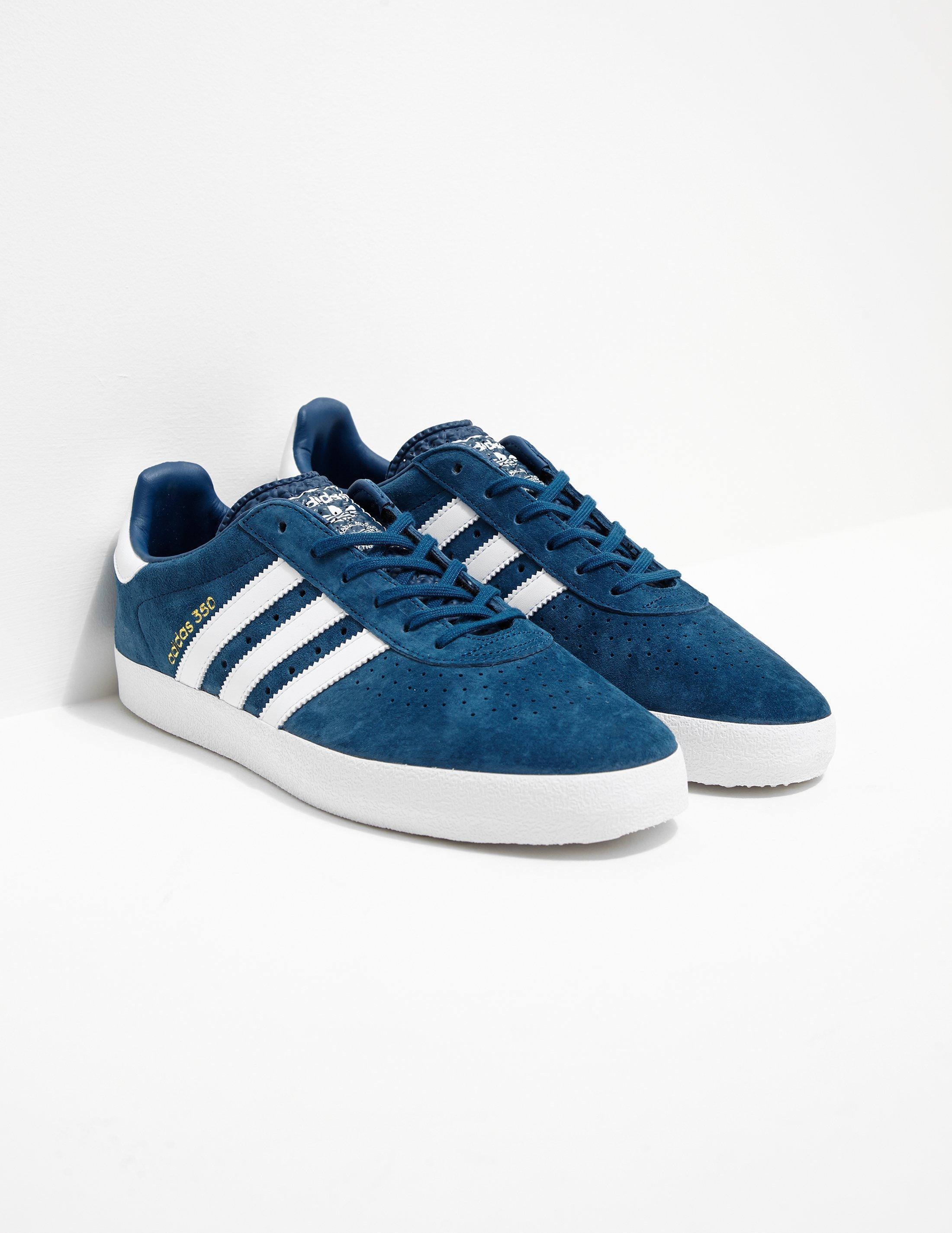 adidas Originals Mens 350 Suede Blue/white for Men - Lyst