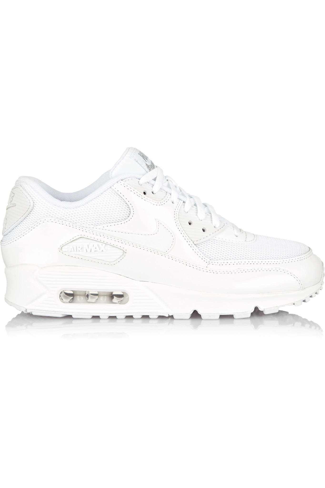 Nike Air Max 90 Premium Leather And Mesh Sneakers In White