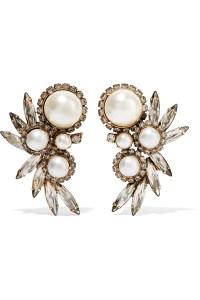 Elizabeth cole Kent Gold-plated Multi-stone Earrings in ...