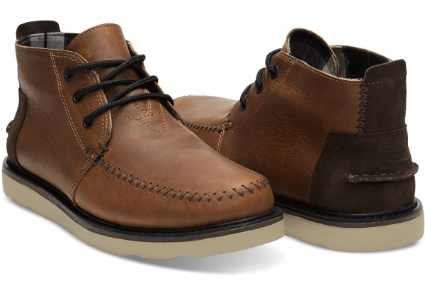 Lyst - Toms Waterproof Brown Leather Men' Chukka Boots In