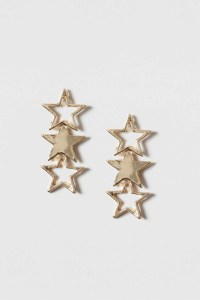 Lyst - Topshop Star Drop Earrings in Metallic