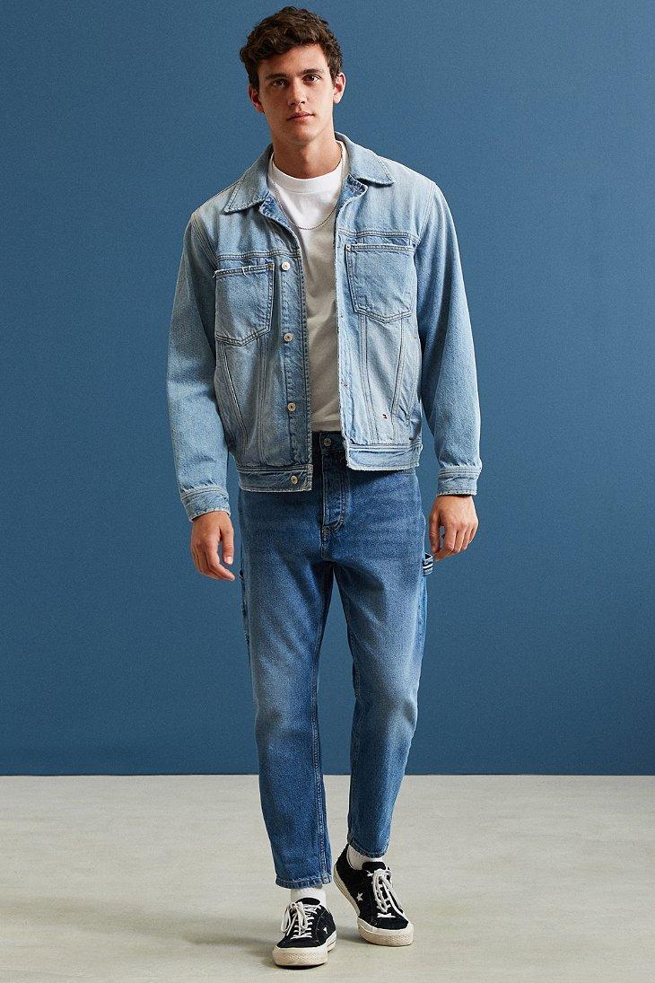 Lyst  Tommy hilfiger 90s Denim Trucker Jacket in Blue