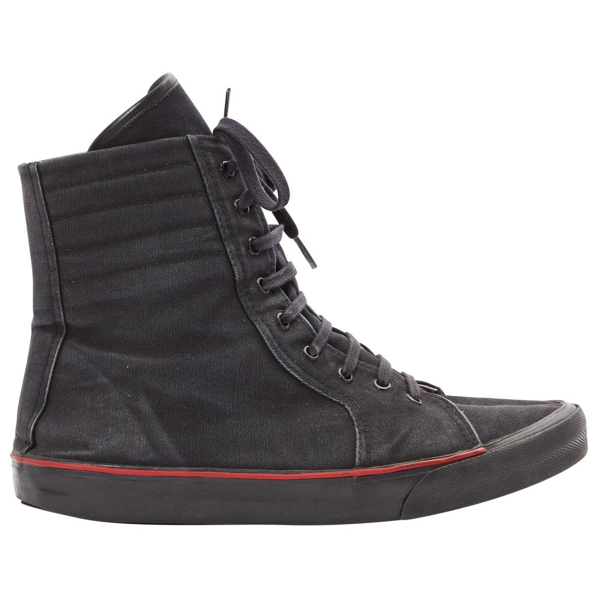 Dior Canvas Black Cloth Trainers for Men - Lyst