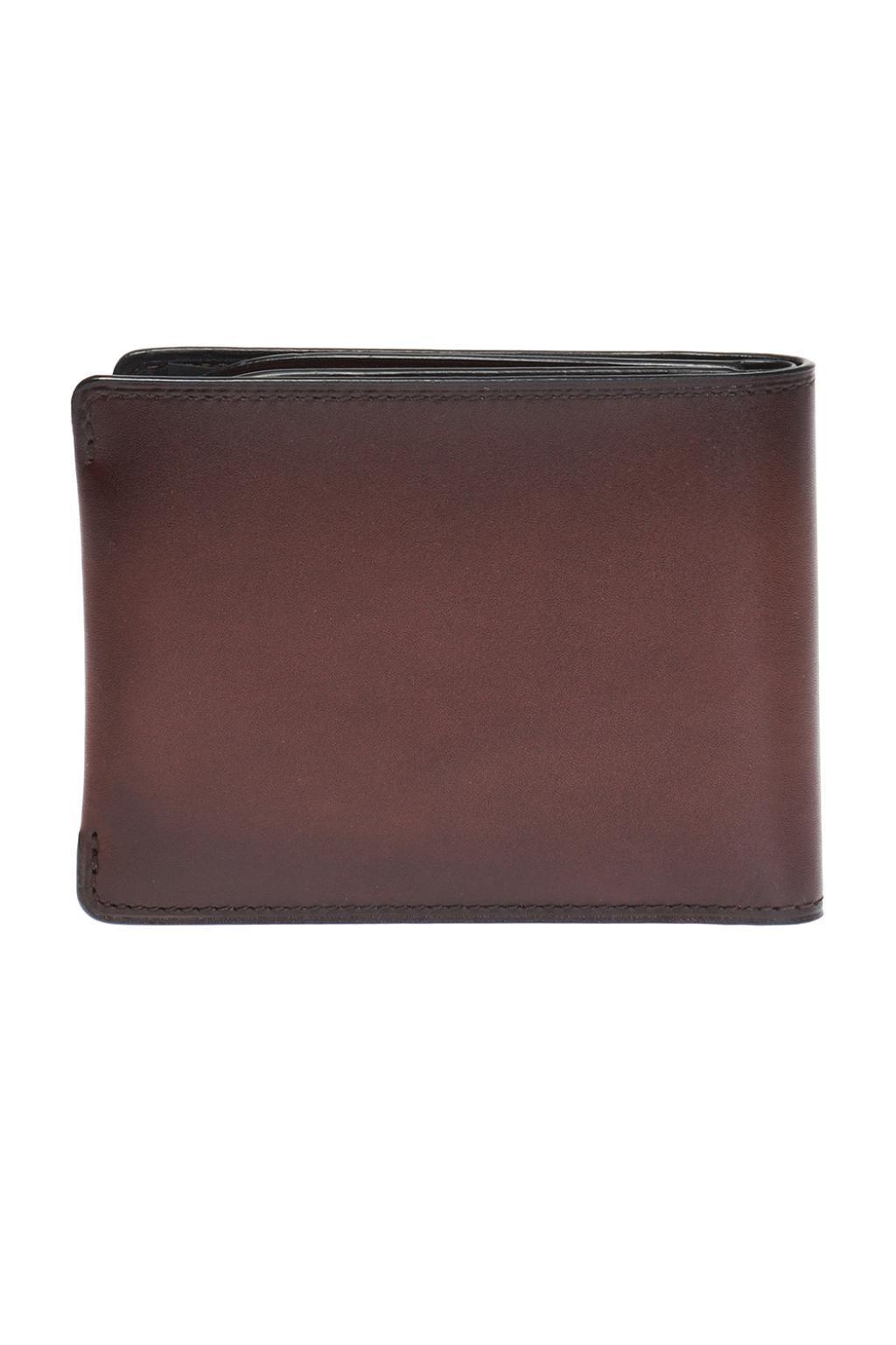 Berluti Leather Bi-fold Wallet Brown for Men - Lyst