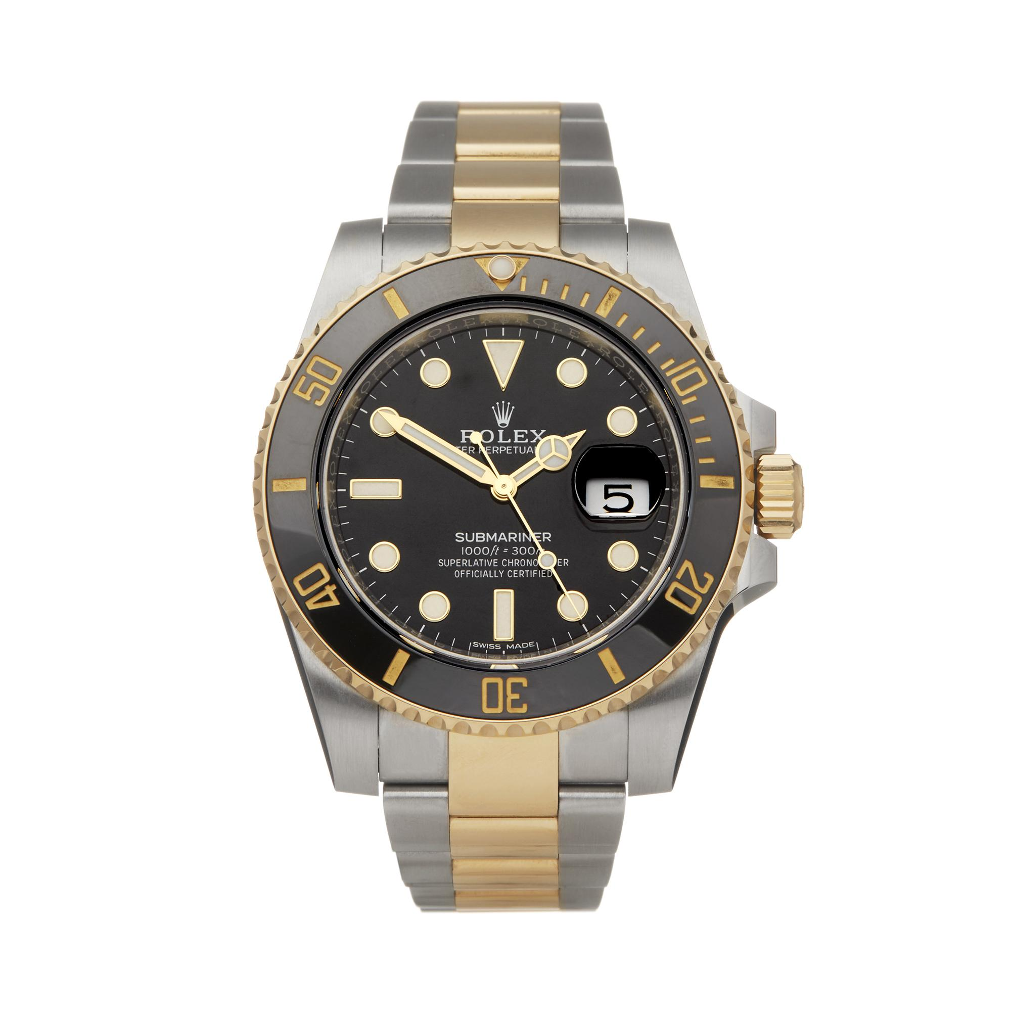 Rolex Submariner Date 18k Stainless Steel & Yellow Gold in Metallic for Men - Lyst