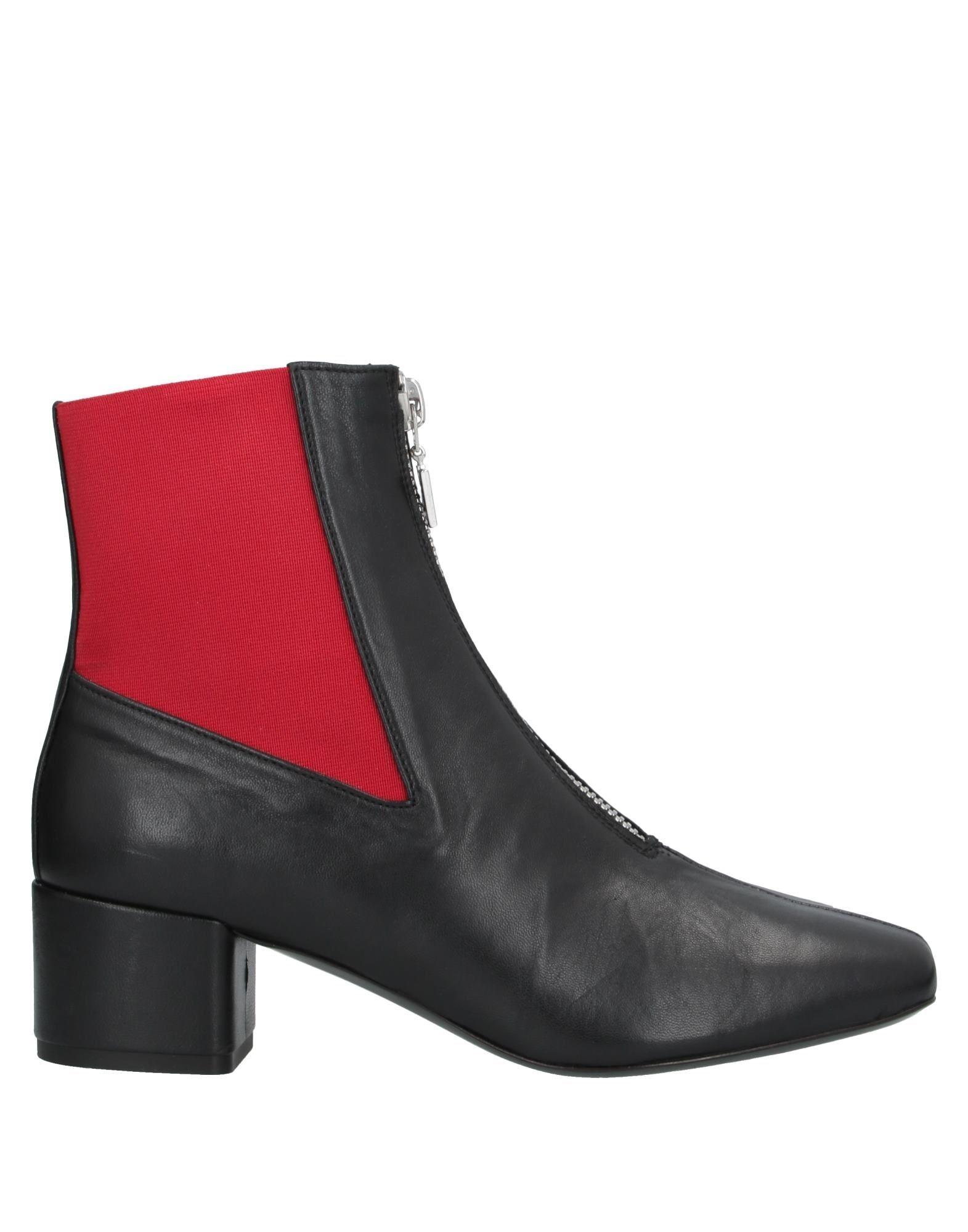 MSGM Leather Ankle Boots in Black - Lyst