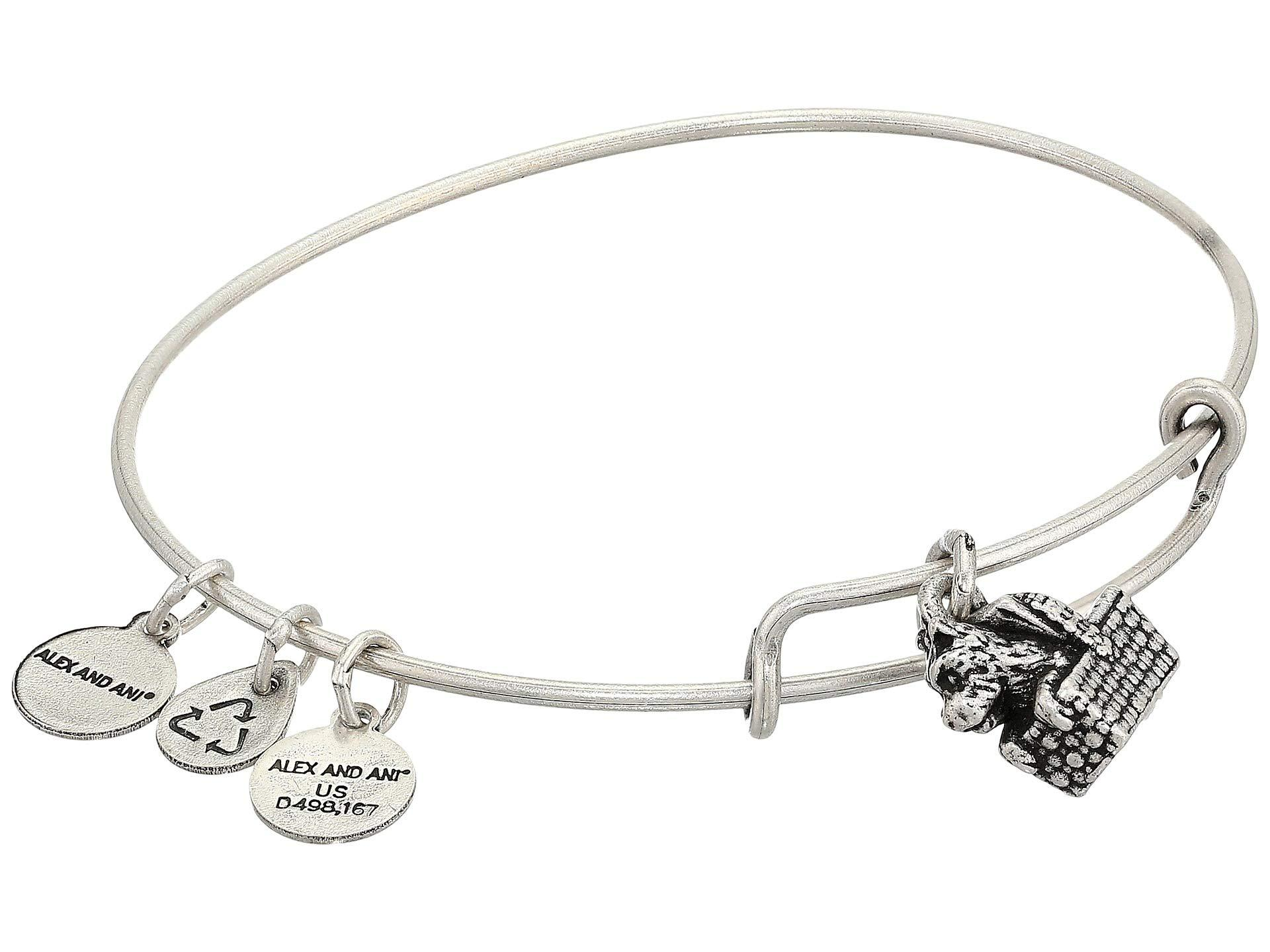 Alex And Ani Wizard Of Oz Toto Bangle Bracelet In Silver