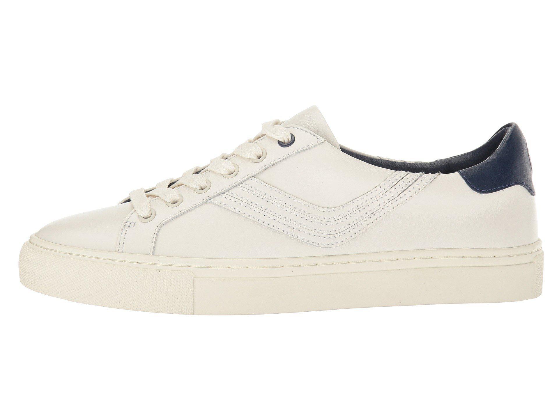 Tory Sport Leather Chevron Color Block Sneaker (snow White/navy Sea) Women's Shoes for Men - Lyst