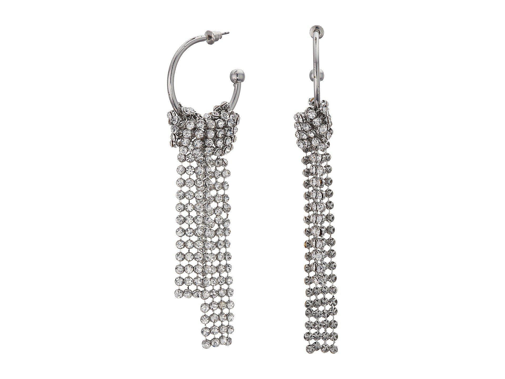 Steve Madden Open Hoop Chandelier Earrings In Silver