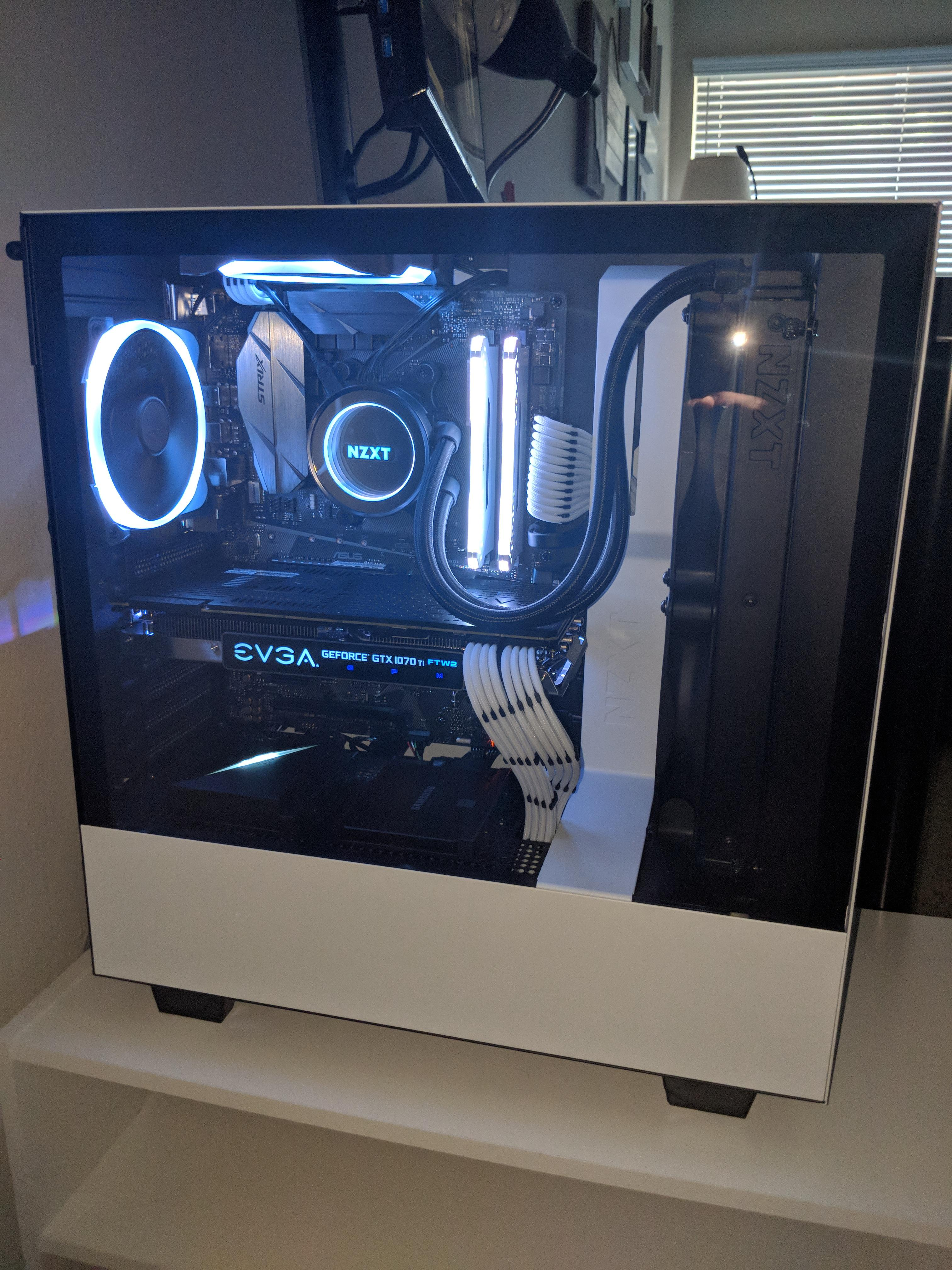 Nzxt H500 (black/black-red/white) : (black/black-red/white), Daltonseale's, Completed, Build, Ryzen, 6-Core,, GeForce, GAMING, Tower, PCPartPicker