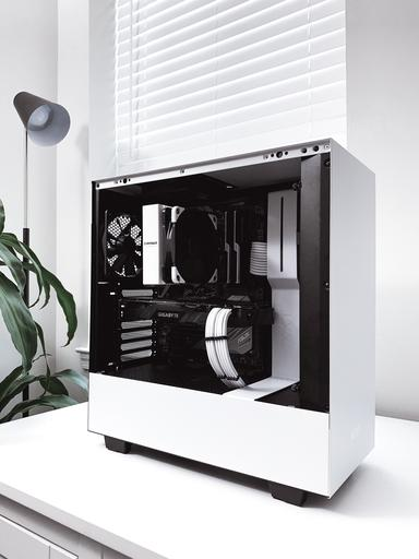 Nzxt H500 (black/black-red/white) : (black/black-red/white), Itshaezy's, Completed, Build, I7-8700K, 6-Core,, GeForce, WINDFORCE,, Tower, PCPartPicker
