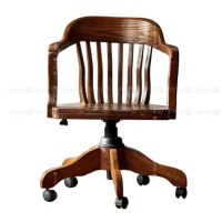 Traditional Office Chair, Wood Office Chair - Vermont ...