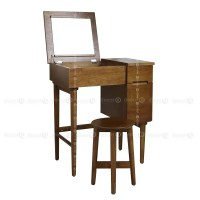 Decor8 Ludlow Compact Wood Desk, Vanity Table and Dressing ...