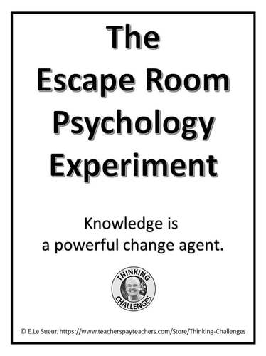 The Escape Room Psychology Experiment by Thinking
