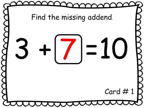 QR Code Task Cards Missing Addends with Video
