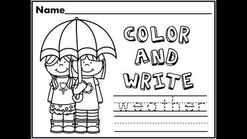 Weather Themed NO PREP Kindergarten Language Arts Pack