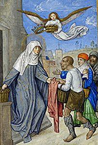 Santa Isabel de Hungría, «Hastings Hours» - British Library, Londres
