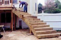 Curved Deck Stairs | Professional Deck Builder ...