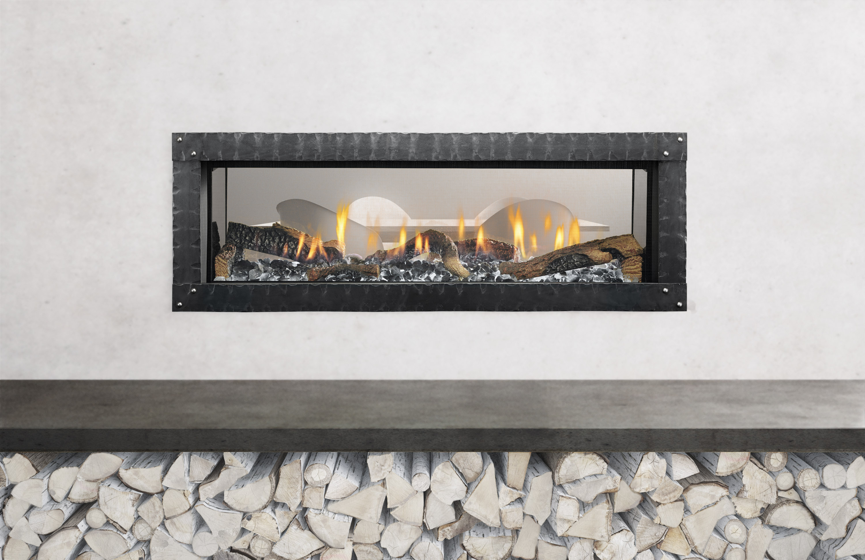 Linear Fireplaces Trend UpEven Behind Barrier Screens  Remodeling  Fireplaces Interiors