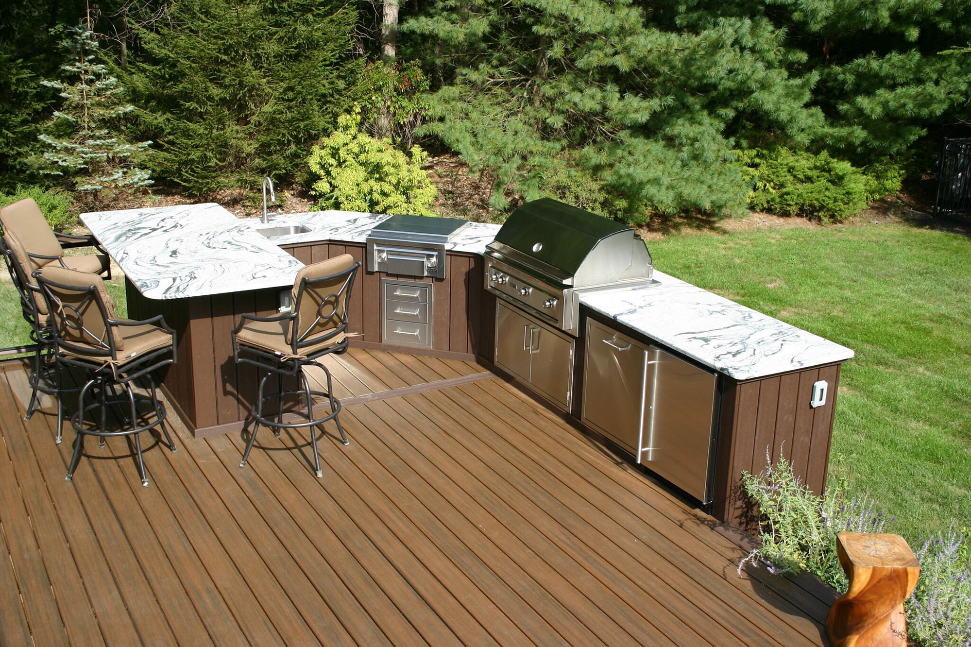 outside kitchen designs black canisters for designing outdoor kitchens professional deck builder