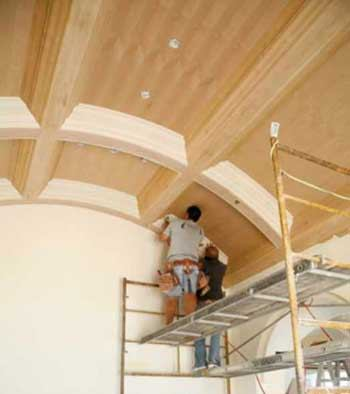 A Curved Coffered Ceiling  JLC Online  Drywall Molding Millwork and Trim Walls Saws Ceilings