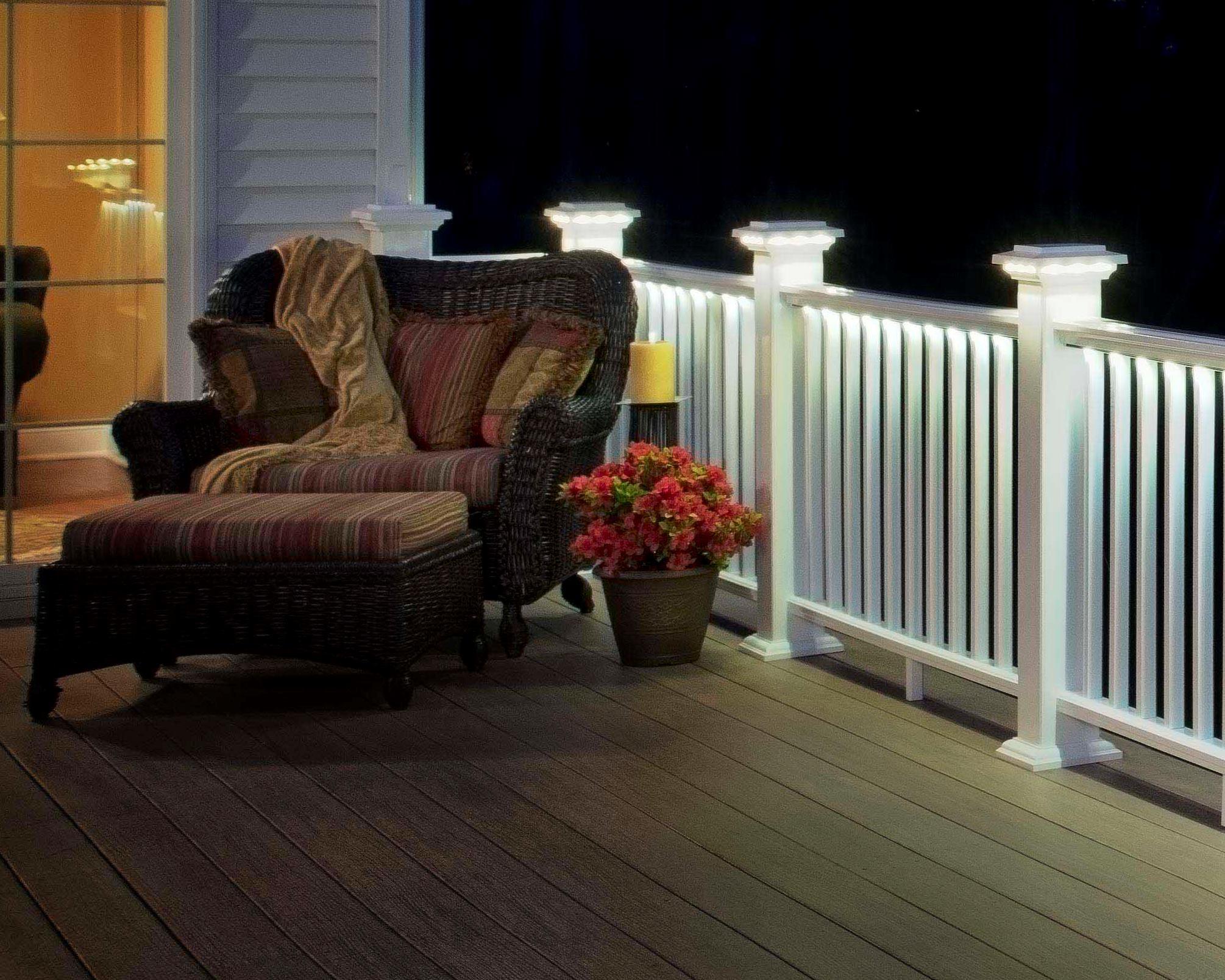 Deck Rail Lights From Azek Custom Home Magazine
