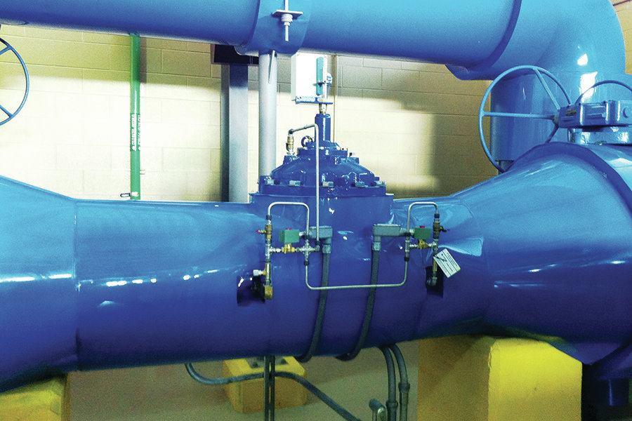 Actuated control valve eliminates cavitation damage at