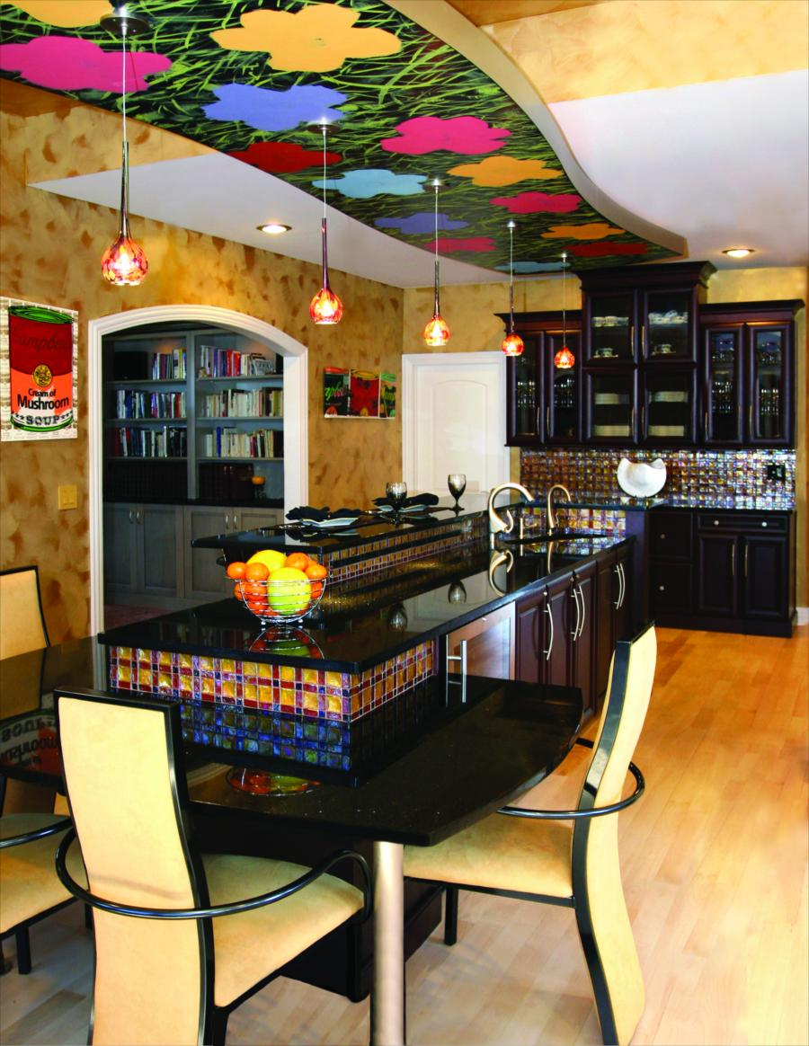 medium resolution of kitchen island soffit design